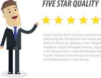 dolar ilustracyjny biznesowe euro wektora Pięć gwiazda dla biznesu royalty ilustracja