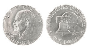 dolar jeden Zdjęcia Royalty Free