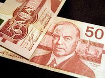 dolar kanadyjski banknotów 50 Zdjęcia Royalty Free