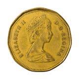 25 1988 dolar kanadyjski monety odwrotność odizolowywająca zdjęcia royalty free