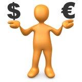 dolar kontra euro Obraz Stock