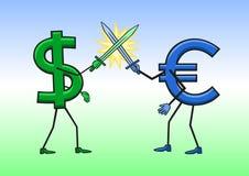 dolar kontra euro Obrazy Stock