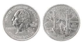 dolar kwartalny Vermont Zdjęcie Stock