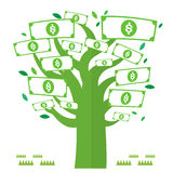Dolar money tree green icons Vector Currency. Dolar money tree green with icons Vector Currency Royalty Free Stock Photos