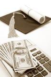 dolar mortarboard czarny zdjęcie royalty free
