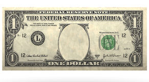 Dolar no face Royalty Free Stock Photography