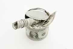 dolar odizolowywająca stara cyna używać Zdjęcie Royalty Free