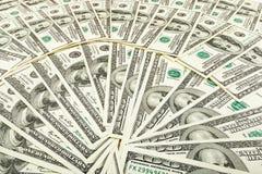 Dolar papiergeld Achtergrond van bankbiljetten Stock Foto