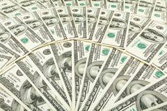 Dolar papiergeld Achtergrond van bankbiljetten Royalty-vrije Stock Foto