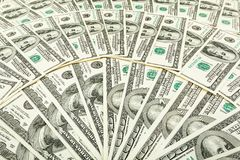 Dolar pappers- pengar Bakgrund av sedlar Royaltyfri Foto
