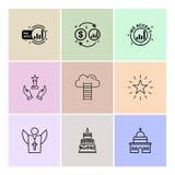 dolar, pieniądze, gwiazda, kościół, tort, ojciec, pomoc, drabiny ilustracji