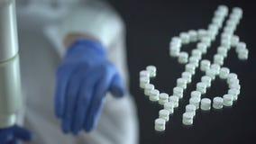 Dolar robić z pigułek, drodzy leczenia, farmaceutyczny biznes zbiory wideo