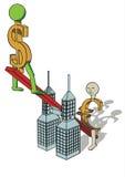 dolar s zwiększać Obrazy Stock