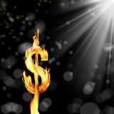 dolar spalania znak Obrazy Stock