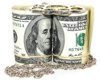 dolar stacza się dwa Zdjęcia Stock