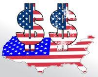 dolar tecken Royaltyfri Fotografi