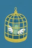 Dolar w złotej ptasiej klatce Obraz Stock