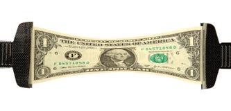 dolar wyciągnięta w pieniądze rozciąga nas Obraz Royalty Free