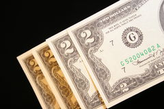 dolar z dwóch obrazy royalty free