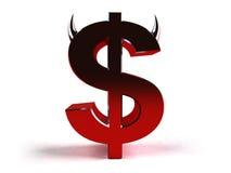 dolar zło Zdjęcia Royalty Free