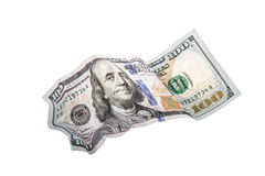 dolar zmięty 100 Obraz Stock