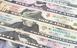 Dolara amerykańskiego pieniądze abstrakcjonistyczny tło lub tekstura Zdjęcie Royalty Free