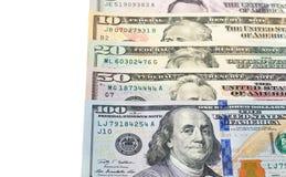 Dolara amerykańskiego rachunek odizolowywający na białym tle Obrazy Royalty Free