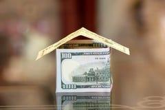 dolara do domu czynszu domowa wyprzedaż Fotografia Stock
