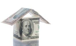 Dolara i funta domy nad bielem. Fotografia Royalty Free