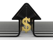 Dolara symbolu domowy skład Zdjęcia Stock