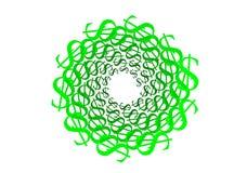 Dolara zielony znak Obrazy Royalty Free