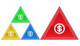 Dolarowa ikona, znak, ilustracja Zdjęcia Stock
