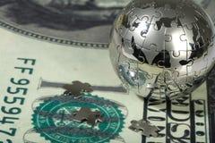 dolarowa kula ziemska Obraz Stock
