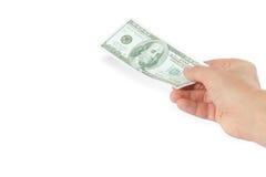 dolarowa ręka Zdjęcia Royalty Free