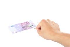 dolarowa ręka Fotografia Royalty Free