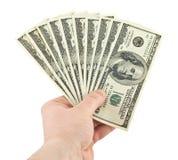 dolarowa ręka Obrazy Royalty Free