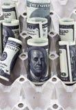 Dolarowe rolki Zdjęcie Stock