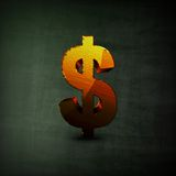 Dolarowego znaka ilustracja Obraz Stock