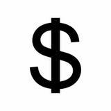Dolarowego znaka wektorowy projekt Obrazy Royalty Free