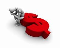 dolarowej osoby siedzący symbol Zdjęcia Stock