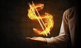 Dolarowej waluty pożarniczy symbol Fotografia Stock