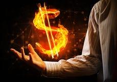 Dolarowej waluty pożarniczy symbol Zdjęcie Stock