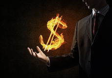 Dolarowej waluty pożarniczy symbol Obraz Stock