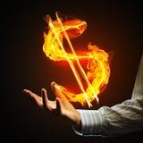 Dolarowej waluty pożarniczy symbol Obrazy Stock