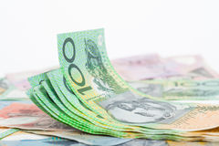 dolarowi australijscy banknoty Zdjęcia Royalty Free