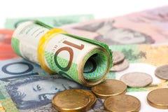 dolarowi australijscy banknoty Obraz Stock