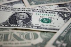 Dolarowi banknoty 1 dolar zdjęcia stock