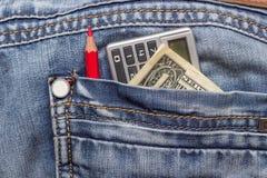 Dolarowi cajgi ołówkowi Obraz Stock