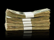 Dolarowi pieniędzy rachunki Fotografia Stock
