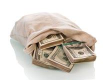 Dolarowi pieniędzy rachunki Zdjęcia Royalty Free
